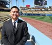 Dr. Paik at Dr. Frank Jobe's memorial at Dodgers stadium